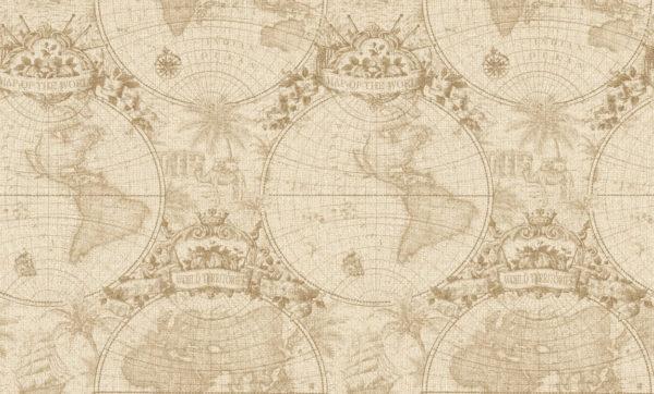 Виниловые обои Rasch Globe 938906